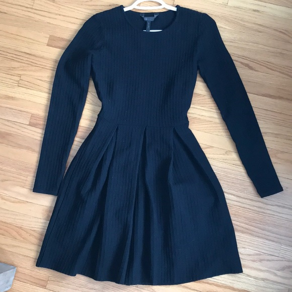 BCBGMaxAzria Dresses & Skirts - EUC BCBG black ribbed knit dress